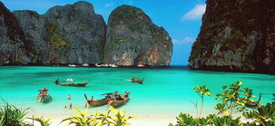 Maya bay - phi phi ley - picture used by Snippy's Snaps Diving -  photographer unknown.