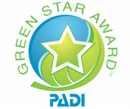 PADI Green Star Aware Logo @ Snippy's Snaps Diving website - Dive Snippy