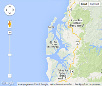 Map Google of Koh Phra Thong